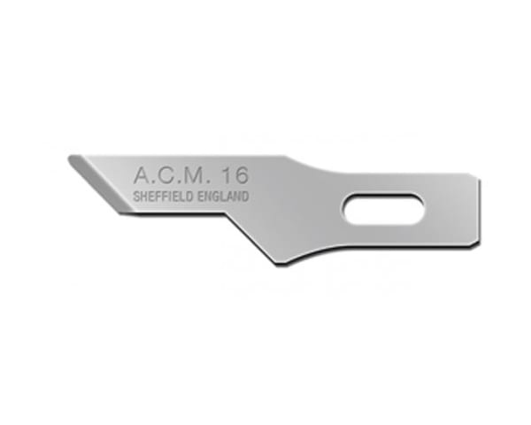 Swann-Morton ACM No.16 Blade is used for stencilling, scoring and etching