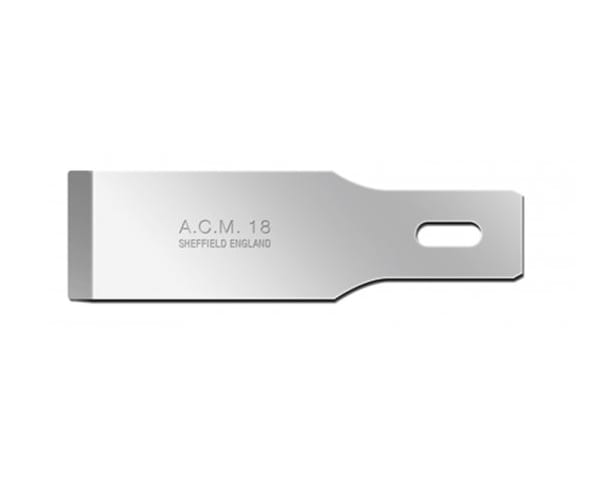 Swann-Morton ACM No.18 Blade is used for deep cross cutting and smooth chiselling