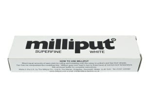 Milliput Superfine White is a fine epoxy putty used for the restoration of porcelain and other ceramics