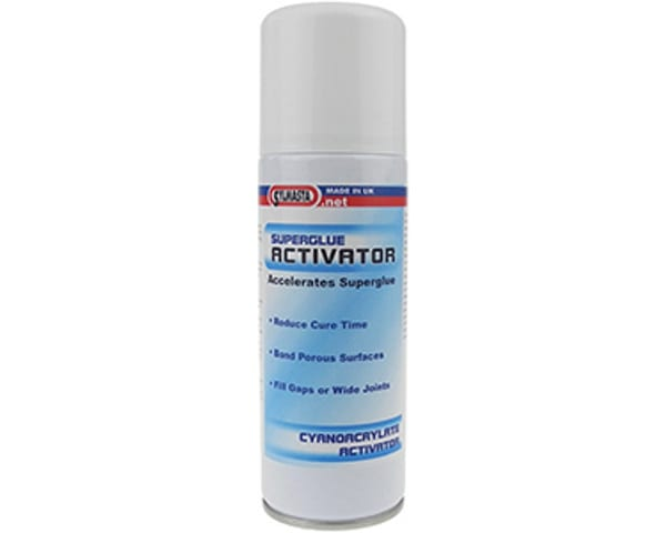 Sylmasta Superglue Activator is a 200ml aeorosol of activator which is used to speed up curing time and protect porous materials in the superglueing process
