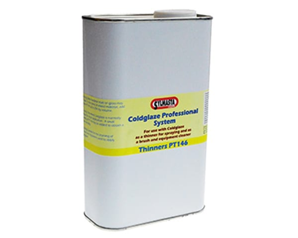 Coldglaze PT146 Thinner has been specially blended for the thinning of Coldglaze PRO 2 Clear Gloss