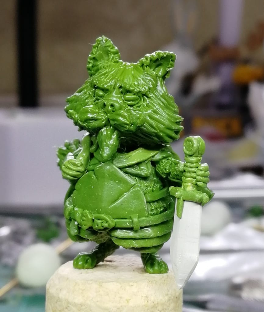 Cats of Crumpton figure carved out of Green Stuff Epoxy Modelling Putty