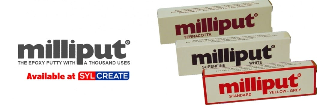 Milliput is the epoxy repair putty with a thousand uses, available to buy today in all six grades from UK based company SylCreate